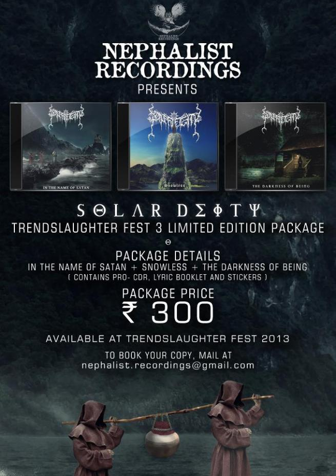 Nephalist Recordings Announce Solar Deity's Limited Edition Package For Trendslaughter Fest 2013