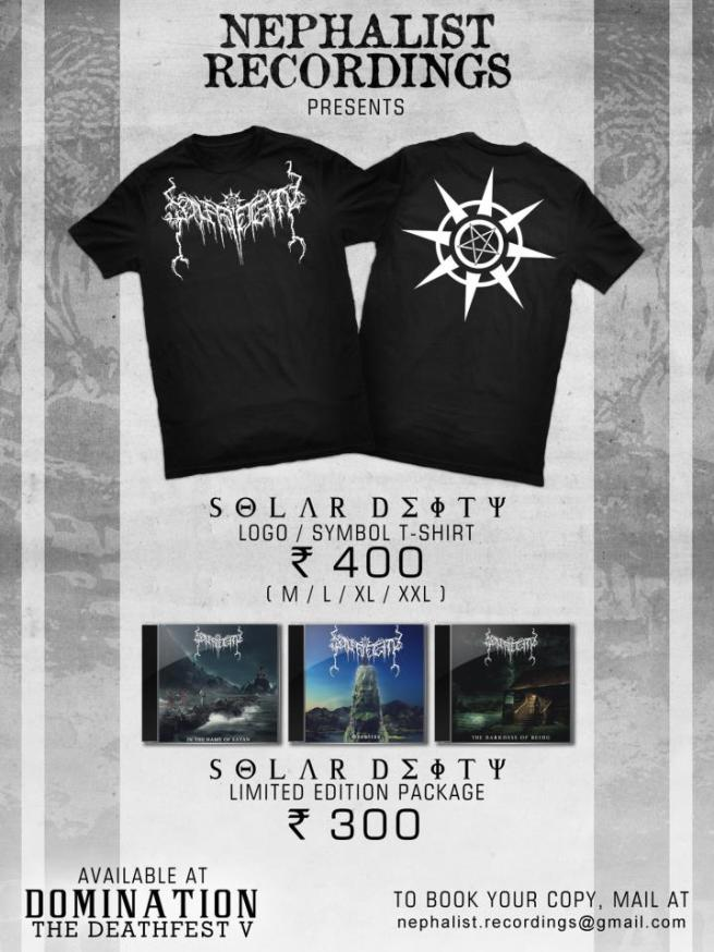 Nephalist Recordings has Solar Deity Merchandise (T-shirts and CDs)  Ready for Domination: The Deathfest V