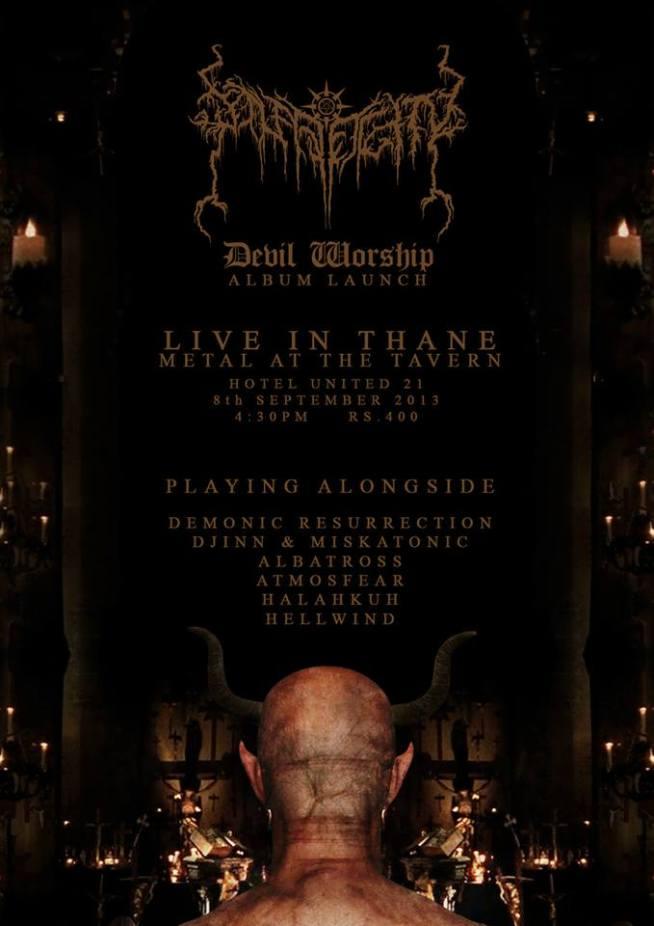 solar deity gig-show-concert poster