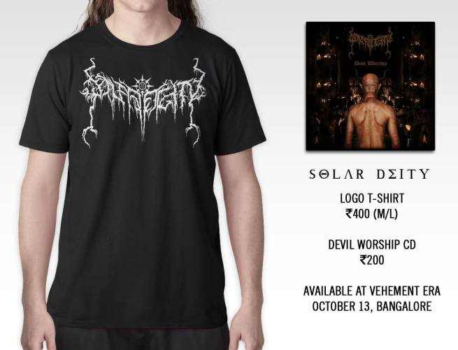 Solar Deity Tee and CD